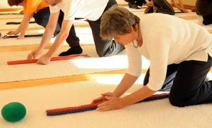 Eutonie, Teilnehmerinnen, Material, Yogamatte