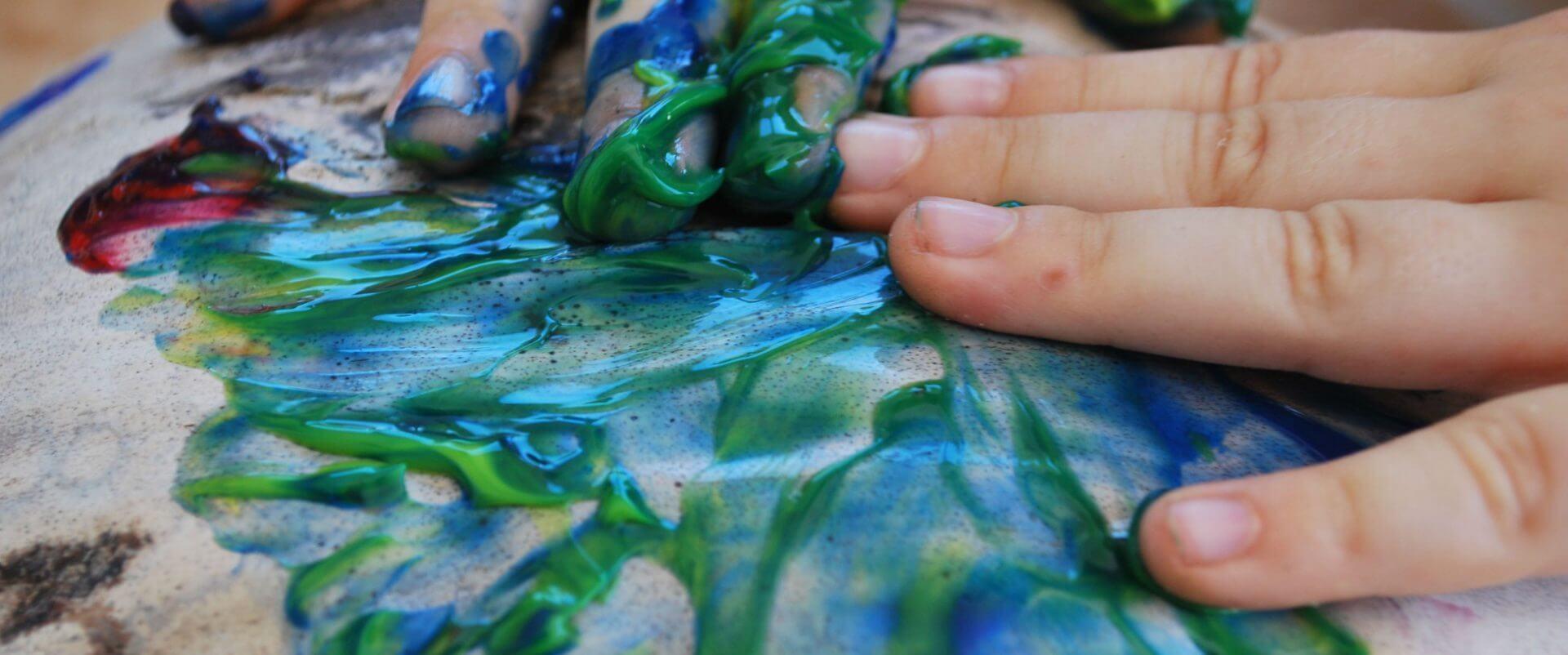 mit den Händen malen